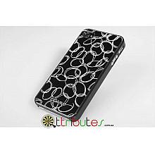 Накладка-чехол для iPhone 4s GGMM Engrave-Cocoon Black/black