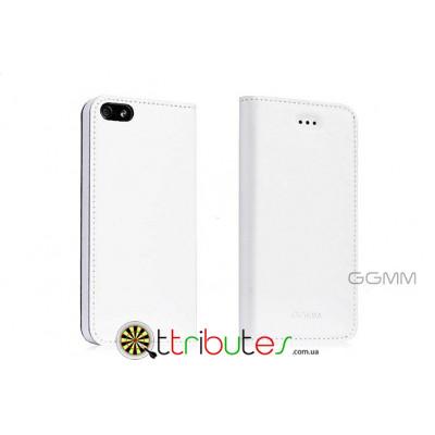 Книжка-чехол на iPhone 5 & 5s GGMM Genuine Leather Kiss white