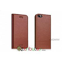 Книжка-чехол на iPhone 5 & 5s GGMM Genuine Leather Kiss brown